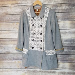 Anthropologie Nick & Mo Artistic Button Up Jacket